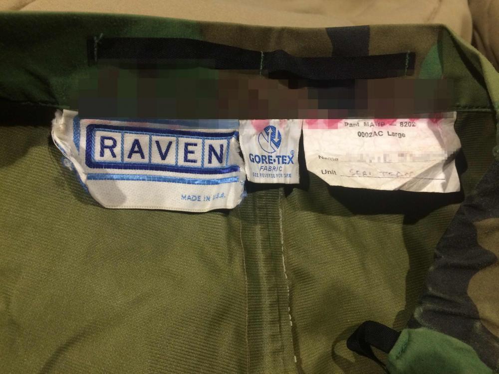 "Raven Goretex ""SEAL TEAM"" + Name on tag Tag_censored"