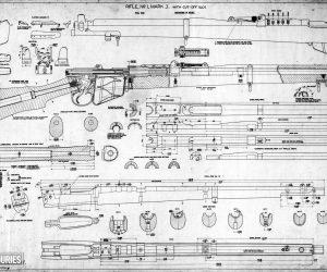 Short, Magazine Lee Enfield (SMLE) rifle and Pattern 1907 bayonet (1903)