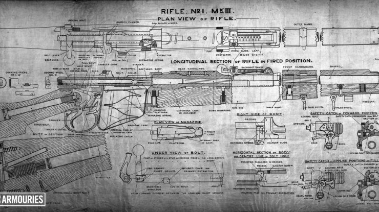 Short, Magazine Lee Enfield (SMLE) rifle and Pattern 1907 bayonet (1903)(6)