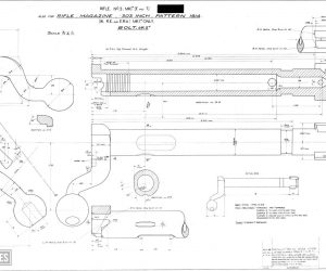 Short, Magazine Lee Enfield (SMLE) rifle and Pattern 1907 bayonet (1903)(9)